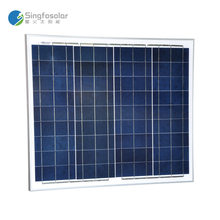 Customized China Manufactured Home Use Singfo Solar Energy 50W Polycrystalline Silicon Solar Panel For On Or Off Grid System