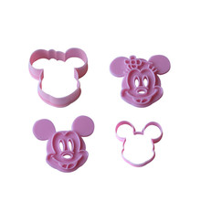2pcs Mickey Minny Mouse Fondant Cake Cookie Biscuit Cutter Mold Mould Tools Set
