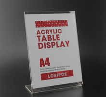 A4 L poster rack magnetic Acrylic table Desktop menu price Label tag frame Holder Stand advertising showing stand