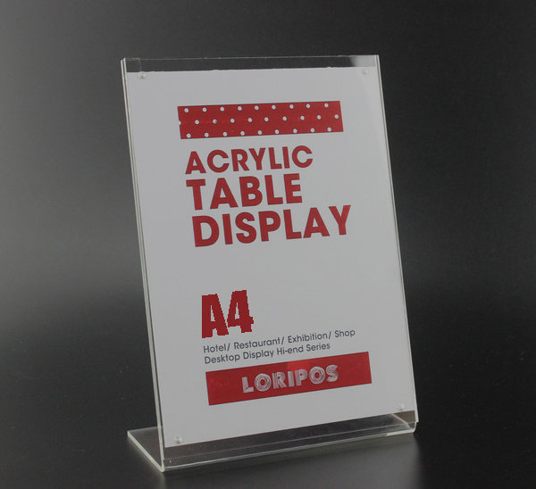 A4 L poster rack magnetic Acrylic table Desktop menu price Label tag frame Holder Stand advertising showing stand(China (Mainland))