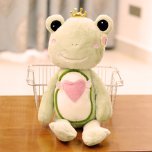 small cute plush green frog toy new lovely frog prince doll about 55cm