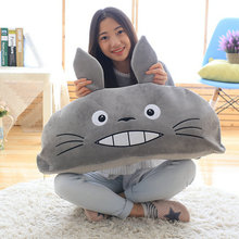 Large size toys 50-85cm Design Plush Pea Totoro Pillow Cushion Toys Cartoon Plush Totoro Dolls Gift Kids Girlfriend baby cushion