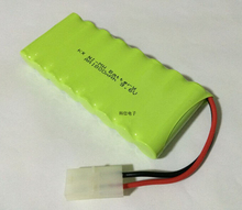 Brand New AA Ni-MH 9.6V 1800mAh Ni MH Battery Rechargeable Batteries Pack With two wires Plugs Free Shipping