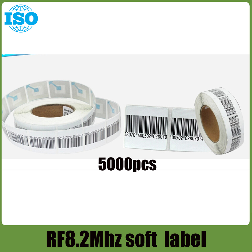 8.2Mhz eas security label with barcode 5000 piece<br><br>Aliexpress
