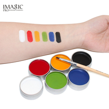 IMAGIC Face Paint Palette Body Painting Flash Tattoo 6 Colors Halloween Makeup Temporary Tatoos Glowing Painting Make Up Tools(China)