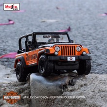 Maisto 1:28 Scale Vehicle Jeep Wrangler Rubicon Off-roading Metal/Alloy/ Die cast model cars for kids