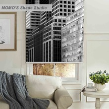 MOMO Thermal Insulated Blackout Fabric Custom Scenic Window Curtains Roller Shades Blinds,PRB set232-237
