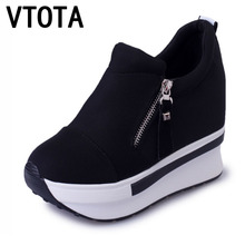 VTOTA Women Casual Platform Shoes Fashion High Heels Shoes Woman Wedges Women Shoes Loafers Heigh Increasing zapatos mujer B98(China)