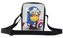 2015 Popular Movie Cartoon Character Despicable Me Minion Shoulder Bag For Girls Boy Kids Messenger Bags For School Children