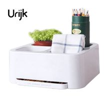Urijk Desktop Storage Box Cosmetic Storage Shelves Remote Control Storage Box Living Room Finishing Boxes(China)