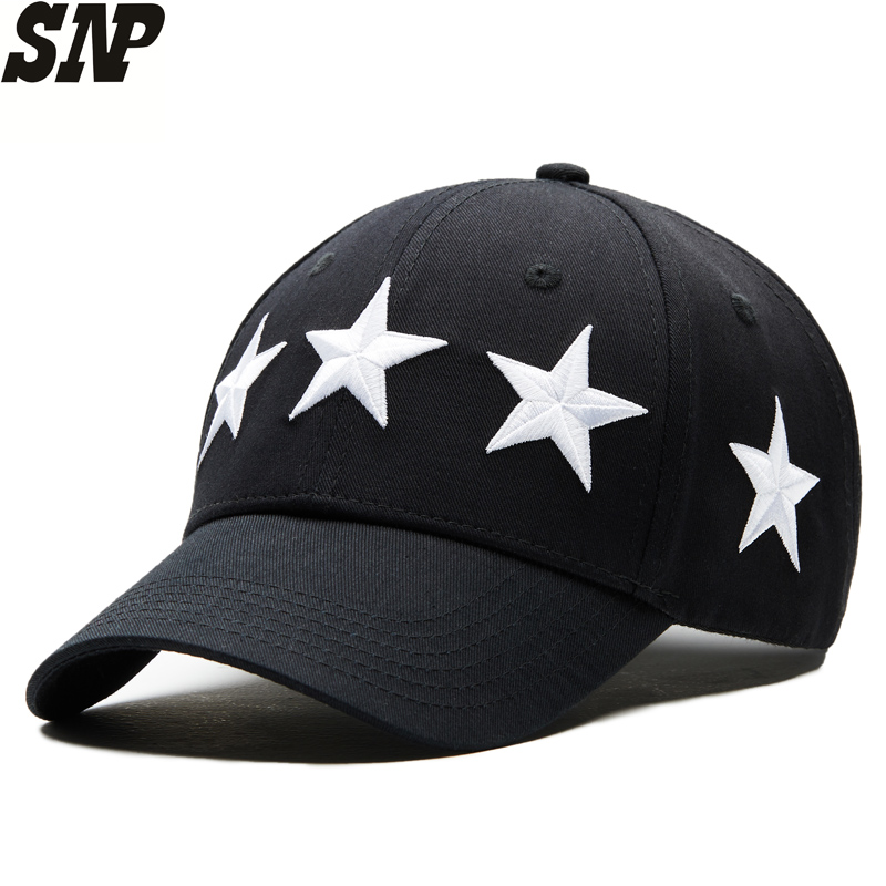Cotton men's women's Navy baseball cap pentagram snapback Leisure men women baseball bone hat adjustable baseball caps