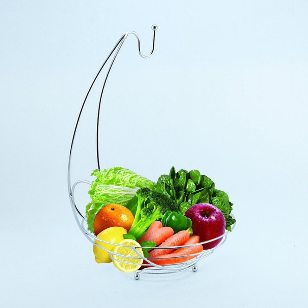 European Fashion Home Kitchen Iron Wire Metal Storage Fruit Rack Modern Design Household Food Container Storage Tool 2