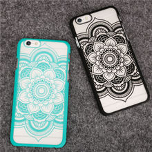 Recommended Newest Luxury Henna Mandala China Style Flower Pattern for iphone 6 6S 6Plus 6sPlus Phone Cases Phone Back Cover