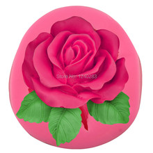Large flower roses mold baking turn sugar tool food grade silicone chocolate mold cake decoration mold