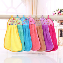1PC Soft Hand Towel New qualified Hand Bathing Towels Soft Plush Hanging Wipe Bathing Towel Hanging jacquard merchandise Towel(China)