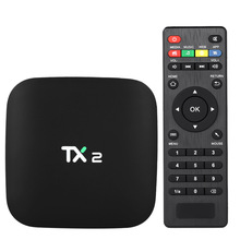 TX2 Smart Android TV Box Android 6.0 Rockchip RK3229 Quad Core UHD 4K VP9 H.265 Mini PC 1GB / 16GB DLNA WiFi IPTV Media Player(China)