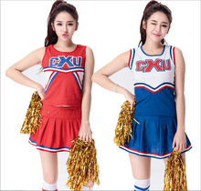 Vocole Sexy High School Football Cheerleader Costume Cheer Girls Uniform Costume Party S M L XL 2XL