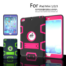 luxury Heavy Duty Shockproof Hybrid Rubber Rugged Hard Impact Protective Skin Shell Case for iPad Mini/iPad Mini2/Mini3 Case EVA