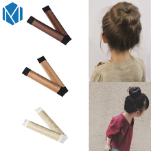 MISM 1 pc French Style Twist Magic DIY Tool Children Hair Accessories Girls Bun Hair Maker Synthetic Wig 15 CM Kids Hair Band(China)