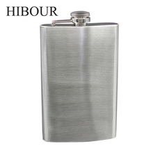 HIBOUR Stainless Steel Hip Flask Customize DIY Engraved Pocket Flasks Gift for Men Groomsman of flask 8 oZ(China)