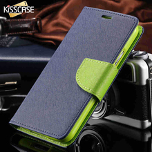 KISSCASE New Fashion Luxury with logo Flip Case for Samsung Galaxy Note 2 II N7100 Leather Wallet Stand Brand Cover Cute Elegant(China)