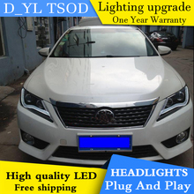 DY_L H car Styling Head lamp for Toyota Camry 2012-2013 LED Headlight DRL H7/D2H HID Xenon bi xenon lens(China)
