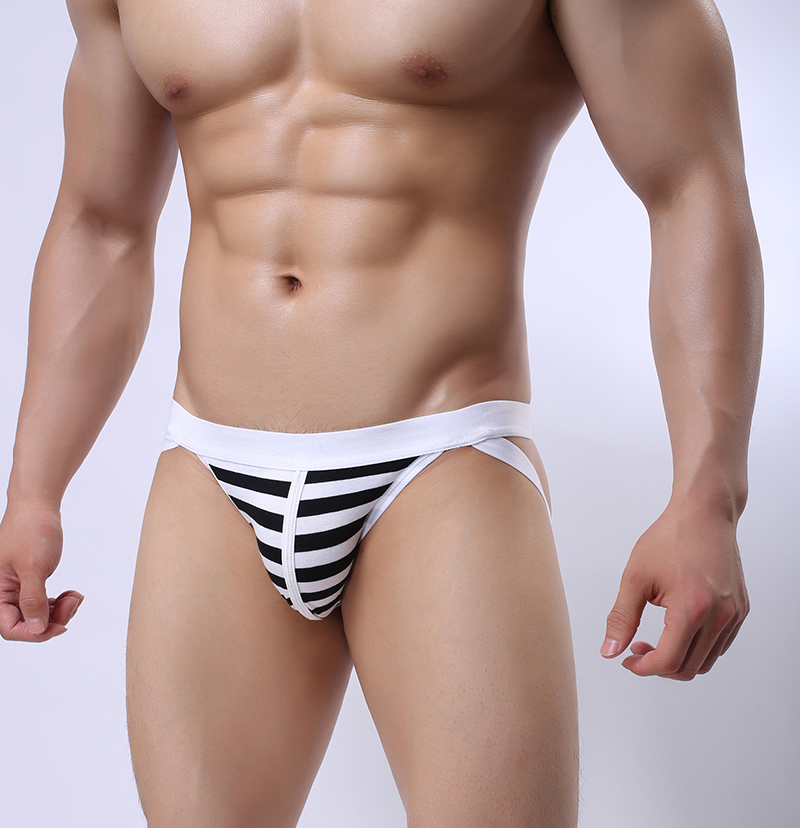 Male panties cotton sexy mens underwear breathable double ding pants jockstrap gay string homme mens thong underwear