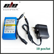 10x Portable DC12300 DC 12V 3000mAh Li-ion Super Rechargeable Battery Pack with Plug For transmitter CCTV camera(China)