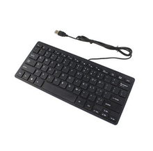 Excellent Quality Black USB Slim Silent Wired Mini Keyboard Durable For Windows 8/7/Vista/XP/2000/OSX/Linux (32/64bits)