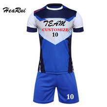 Hearui High-end 2016-2017 Jersey Sportswear Running Jogging Training Sets Soccer Kits Jersey Football Team Jersey Polo Shirt