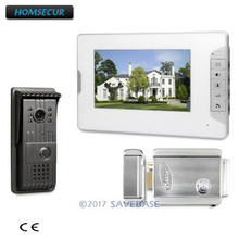 HOMSECUR Hand-free CMOS Video Door Intercom Electric Lock Compatible for Easy Unlocking for Apartment 1V1(China)
