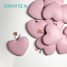 2017 Korean Ladies Heart Shaped Evening Bag Mini Purse Clutch Fresh WomenLeather Small Day Clutches Coin Purses New Arrivals