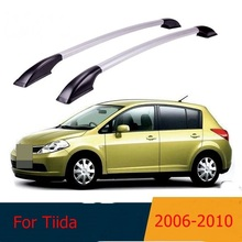 car styling For Nissan Tiida  2006 2007 2008 2009 2010 car roof rack aluminum alloy luggage rack punch
