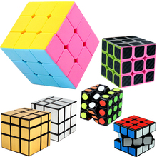 3*3*3 Magic Cube Puzzle Toy for Children Kids 57 MM Original Speed Cube Rubik 3x3x3 Hollow Mirror Cube & Holder