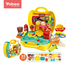 Cooking Toys Colorful Clay Mold Miniature Food Slime DIY Modeling Toy for children boys Pretend Play Toy Kit by Yobee(China)