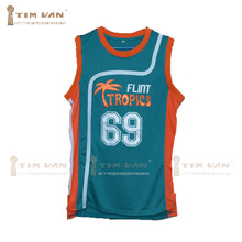 "TIM VAN STEENBERGEB Downtown 69 ""Funky Stuff"" Malone Flint Tropics Semi Pro Team Basketball Jersey-Green"