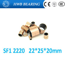 Buy 5Pcs SF1 SF-1 2220 22*25*20 5pcs2220 Self Lubricating Composite Bearing Bushing Sleeve 22 x 25 x 20mm Free shipping High Quality