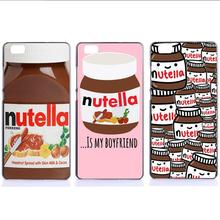 Case For Huawei Ascend P7 P8 P9 Lite P9 Plus PC Hard Mobile Phone Back Cover Housing Nutella Fruit Phone Bag Hard Plastic Shell