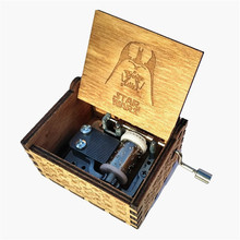 Star Wars Hand operated Type Music box Star Wars Theme Antique Carved wooden Musical Boxes Present Caixa De Musica drop shipping
