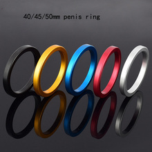 Buy Diameter 40/45/50mm male chastity device cock ring Extend ejaculation penis ring sex toys men cock penis ring