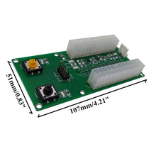 2x24Pin/ 3x24Pin Power Supply Adapter Connector Dual Triple Multiple Relay Board Link XXM8(China)