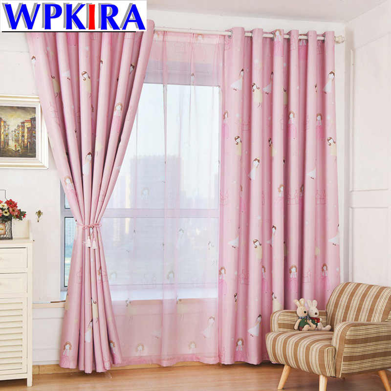 Pink Tulle Girls Curtains Window Screening Sheer Voile Cortinas For Living Room Princess Princess Curtains Girls Room WP139-30