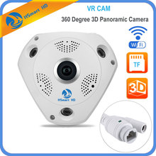 HSmart HD 1280*960 360 Degree Fisheye Panoramic Camera Wireless 3D VR Panorama HD IP Camera P2P Indoor Cam Security WiFi Camera