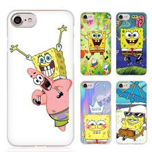 Sponge Bob Funny spongebob Clear Cell Phone Case Cover for Apple iPhone 4 4s 5 5s SE 5c 6 6s 7 7s Plus