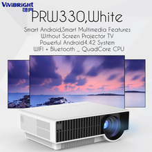 Android WIFI Bluetooth Projector,5800 lumens LED brightness,PRW330 Beamer Support Full HD 1080P LED for Home Cinema,simplebeamer