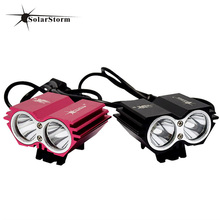 RU Domestic Delivery LED Bicycle Lights 8000Lumen 6400mah Battery Rechargeable Lamp Bike LED Light Bike Headlamp Head Light Bike