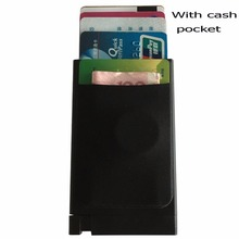 Best design for credit id card cash metal case hold 5pcs credit ID cards paper money coin pocket all in one(China)