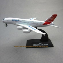 14cm Prototype Air Airbus A380 Airlines ProtoMech Pull Back Plane Model Development Aircraft  Airplane Model  Gift