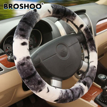 BROSHOO Auto Car General Artificial Wool Winter Steering Wheel Cover Plush Super Soft Macrotrichia Styling Free Shipping 38cm