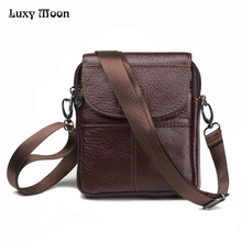 promotion cross-body men messenger bags Genuine leather bag men's travel Handbag leather messenger bag Briefcase ZD128